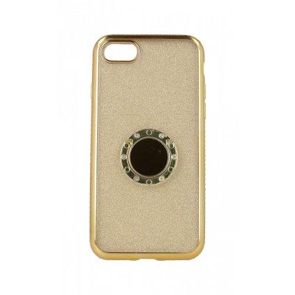 Zadný silikónový kryt na iPhone 8 Diamond zlatý