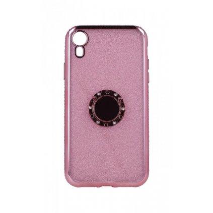 Zadný silikónový kryt na iPhone XR Diamond ružový