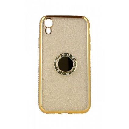 Zadný silikónový kryt na iPhone XR Diamond zlatý