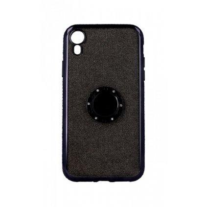 Zadný silikónový kryt na iPhone XR Diamond čierny
