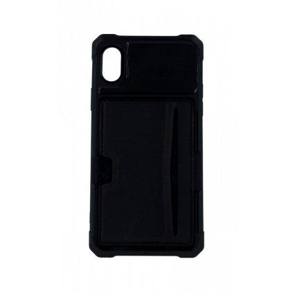 Zadný silikónový kryt na iPhone XR Credit Card čierny