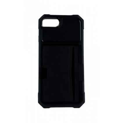 Zadný silikónový kryt na iPhone 8 Credit Card čierny