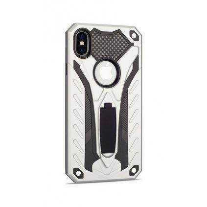 Ultra odolný zadný kryt na iPhone XR Phantom strieborný