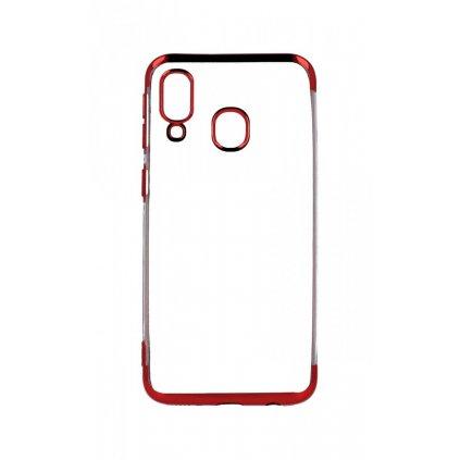 Zadný silikónový kryt na Samsung A40 Frame červený