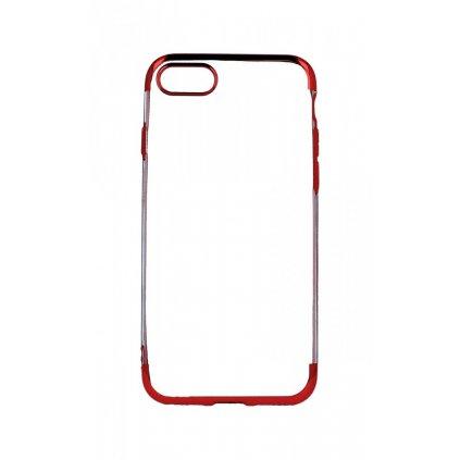 Zadný silikónový kryt na iPhone 7 Frame červený