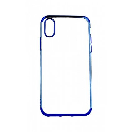 Zadný silikónový kryt na iPhone X Frame modrý