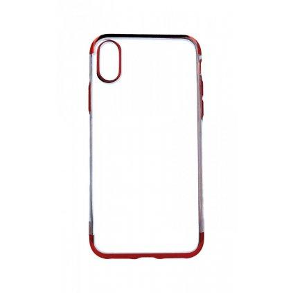 Zadný silikónový kryt na iPhone X Frame červený