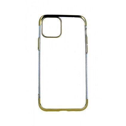 Zadný silikónový kryt na iPhone 11 Pro Frame zlatý