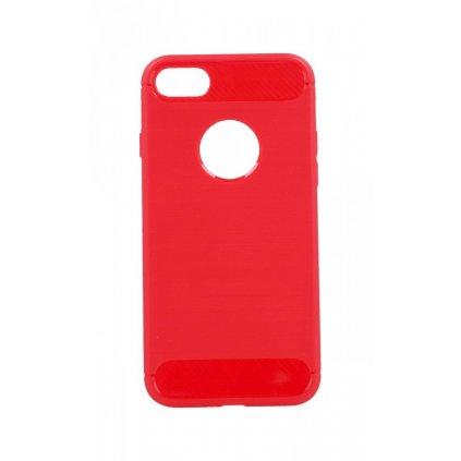 Zadný silikónový kryt na iPhone 8 červený