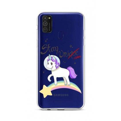 Zadný silikónový kryt na Samsung M21 Stay Unicorn