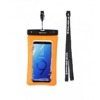 """Vodotesné púzdro na mobil WK 5,5"""" oranžové"""