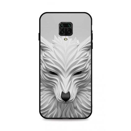 Zadný pevný kryt LUXURY na Xiaomi Redmi Note 9 Pro Biely vlk