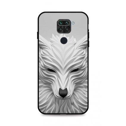 Zadný pevný kryt LUXURY na Xiaomi Redmi Note 9 Biely vlk