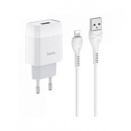 Rýchlonabíjačka HOCO C72A Glorious pre iPhone 2.1A biela