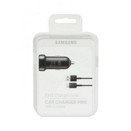 Originálna rýchlonabíjačka do auta Samsung EP-LN930CBE + dátový kábel USB-C (Type-C) čierna (EU Blister)