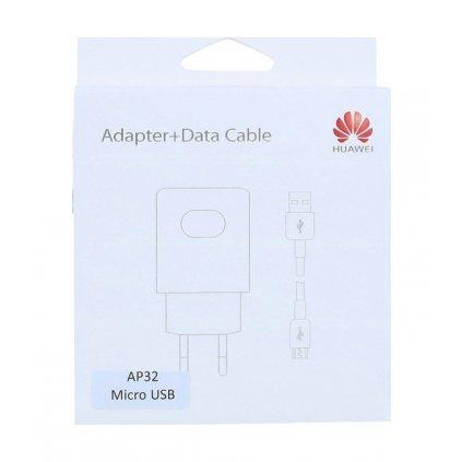 Originálna rýchlonabíjačka Huawei AP32 + dátový kábel micro USB biela 2A (EU Blister)