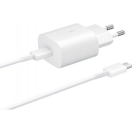 Originálne USB-C (USB type-C) rýchlonabíjačka Samsung EP-TA800EWE + EP-DA705BWE biela