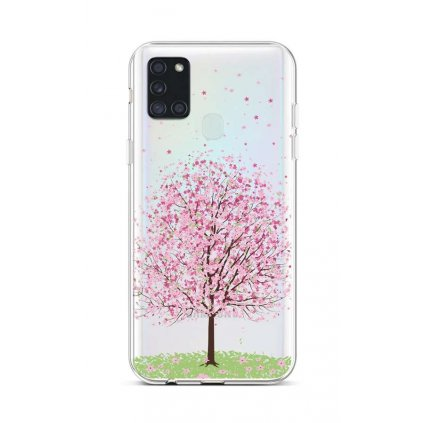 Zadný silikónový kryt na Samsung A21s Blossom Tree