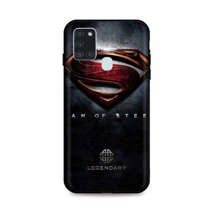 Zadný 3D silikónový kryt na Samsung A21s Superman 2