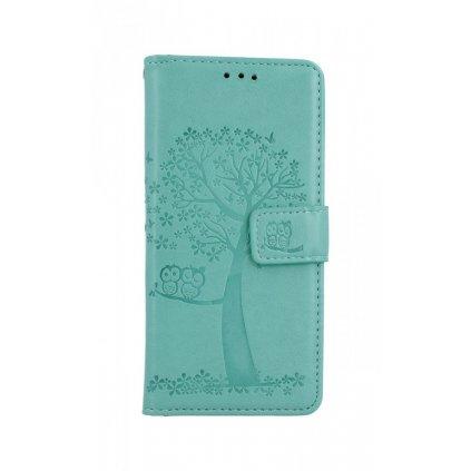 Flipové púzdro na Samsung A41 Zelený strom sovičky
