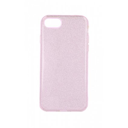 Zadný pevný kryt na iPhone SE 2020 glitter ružový