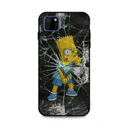 Zadný pevný kryt LUXURY na Huawei Y5p Bart Simpson