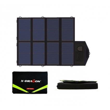 Solárna nabíjačka X-DRAGON XD-SP18V40W čierna