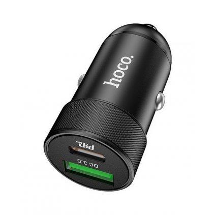 Autodobíječ HOCO Z32B s funkciou rýchlonabíjania čierny 4.5A