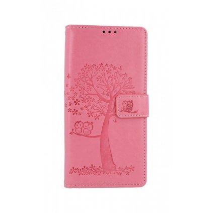 Flipové púzdro na Samsung A21s Ružový strom sovičky