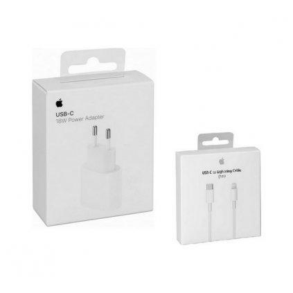 Originálna nabíjačka iPhone MU7V2ZM / A vrátane dátového kábla MQGJ2ZM / A Lightning biela (EU Blister)