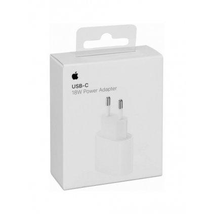Originálny cestovný adaptér iPhone MU7V2ZM / A USB-C (Type-C) biely (EU Blister)