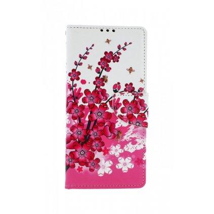 Flipové púzdro na Xiaomi Redmi Note 9 Pro Kytičky textil