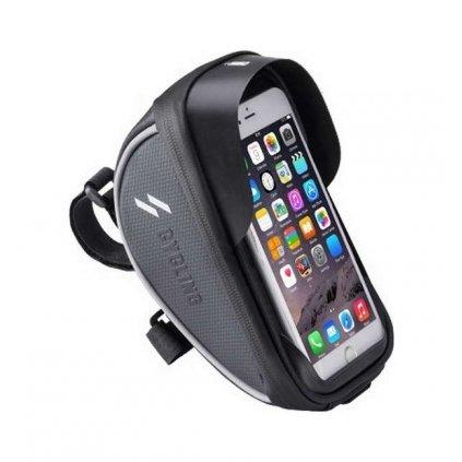 Puzdro CYCLING pre mobilný telefón na riadidlá bicykla čierne XL