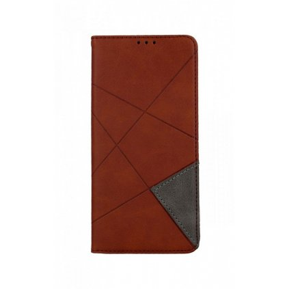 Flipové puzdro Geometric na Xiaomi Redmi Note 8 hnedé