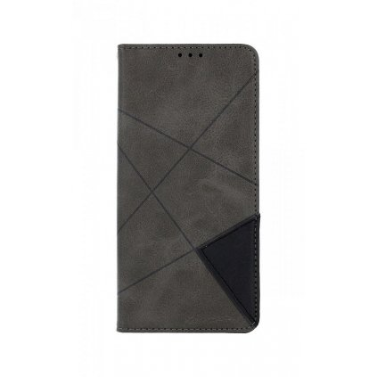 Flipové puzdro Geometric na Xiaomi Redmi Note 8 sivé