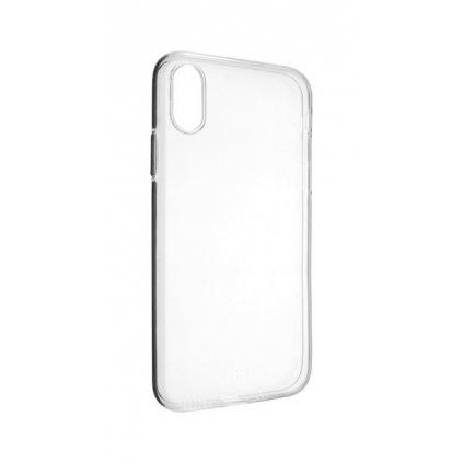 Zadný silikónový kryt na iPhone X 2 mm priehľadný