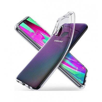 Zadný silikónový kryt na Samsung A40 2 mm priehľadný