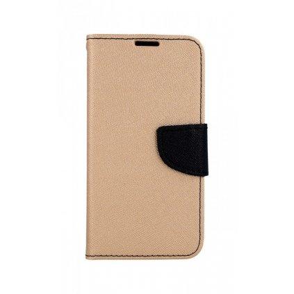 Flipové puzdro na Samsung S10e zlato-čierne