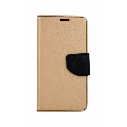 Flipové puzdro na Samsung A40 zlato-čierne