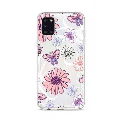 Zadný silikónový kryt na Samsung A31 Flowers