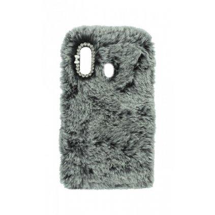 Zadný silikónový kryt na Samsung A20e králiček sivý