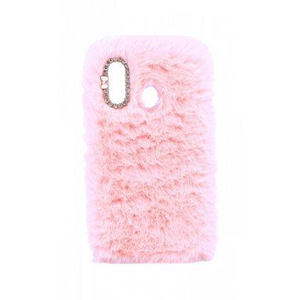 Zadný silikónový kryt na Samsung A40 králiček ružový