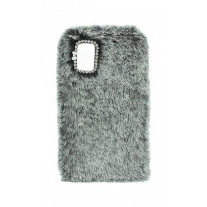 Zadný silikónový kryt na Samsung A41 králiček sivý