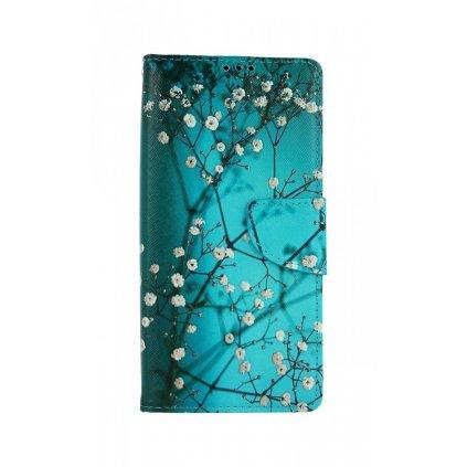 Flipové puzdro na Xiaomi Redmi 9A Modré s kvetmi