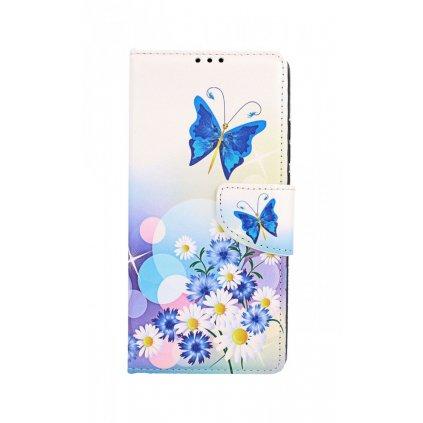 Flipové puzdro na Xiaomi Redmi 9A Biele s motýlikom