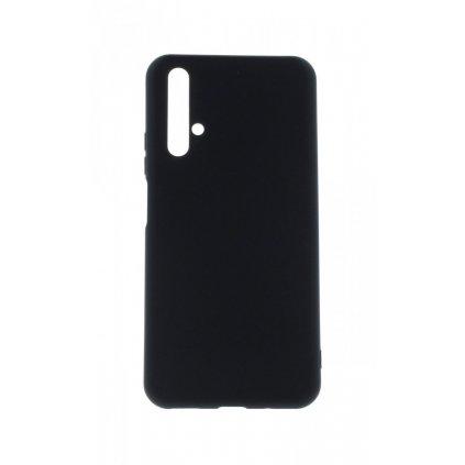 Zadný silikónový kryt na Huawei Nova 5T Velvet čierny