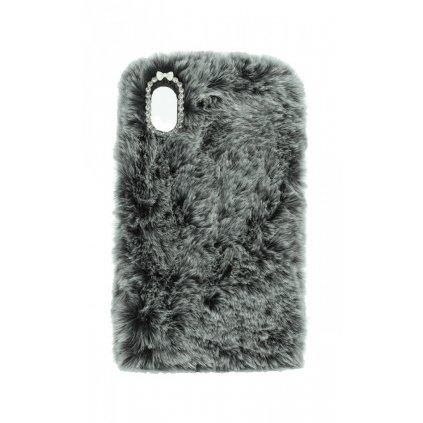 Zadný silikónový kryt na iPhone XR králiček sivý
