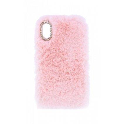 Zadný silikónový kryt na iPhone XR králiček ružový