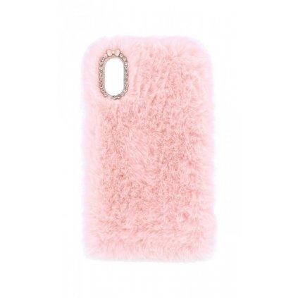 Zadný silikónový kryt na iPhone X králiček ružový