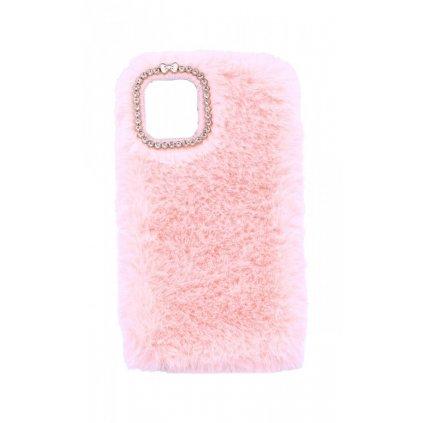 Zadný silikónový kryt na iPhone 11 králiček ružový